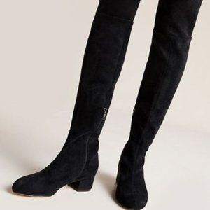 Anthropologie Suede Over the Knee Boots
